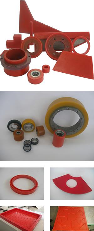 Elastómeros de poliuretano prensado